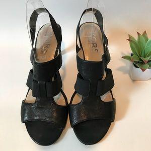 MK Leather Heels